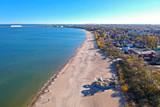 Baltic Sea pier in Gdansk Brzezno at autumn, Poland - 232451341