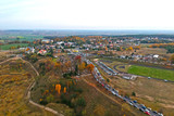 Aerial view od  the cemetery at All Saints Day in Poland - 232451372
