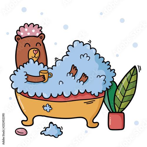 Relaxing bear - 232452390