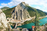 Vue aérienne du canyon de Sisteron en Provence.