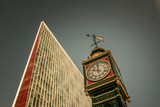 Close up of Little Ben Clock in Victoria Street, London, England. - 232456941