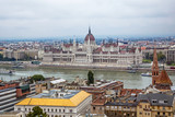 Hungarian parliament in Budapest on the Danube river - 232459980