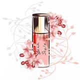 Fashion illustration with perfume bottle - 232461905