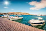 Amazing spring scene of the Porto Rafti port. Sunny morning seascape of Aegean sea, Greece. Traveling concept background. - 232465558