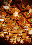 Golden lantern at Singapore Buddha Tooth relics temple with Chinese Architecture - 232477795
