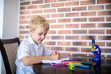 boy draws with markers - 232487775