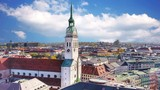 Munich, St. Peter's Church and view of the city. - 232504534