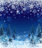 Snowfall and Winter Forest - 232506903