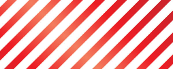 Christmas Seamless Pattern - Red and White Striped Background