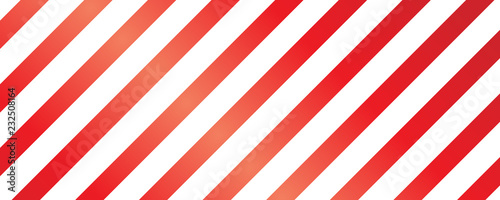 fototapeta na ścianę Christmas Seamless Pattern - Red and White Striped Background
