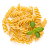 Pasta spiral isolated on the white background.