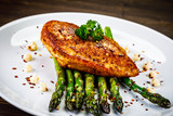 Grilled chicken breast and vegetables - 232512320