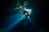 cenotes cave diving in Mexico - 232520989