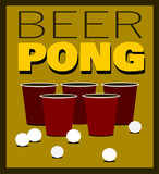 beer pong game with cups and balls - 232523191