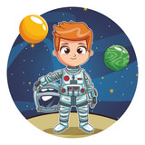 Astronaut boy cartoon - 232528736