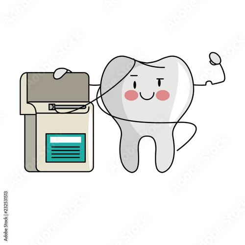 cartoon dental care tooth