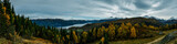 panorama view Norwegian Mountains and fjords
