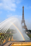 rainbow and Eiffel Tower, Paris