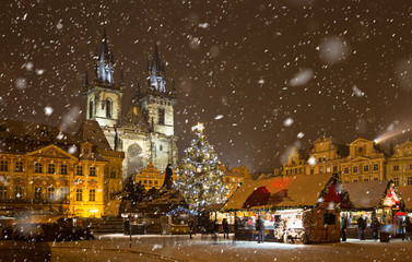 The Old Town Square at Christmas time.