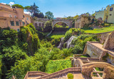 Tivoli (Italy) - The nice little town on the hill in province of Rome, famous for the historical and touristic site Villa Adriana and Villa d'Este. Here a view of historic center. - 232537900