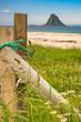 Sea coast sandy beach in resort Bleik Andoya Norway