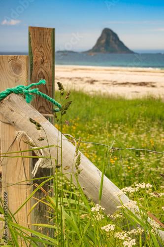 Foto Murales Sea coast sandy beach in resort Bleik Andoya Norway