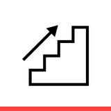 Upstairs icon, vector illustration - 232551156