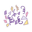 Birthday party confetti