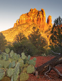 Sedona glows at sundown, Arizona