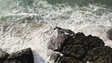 Rocks and waves at Praia Grande in Sintra Portugal - 232562155