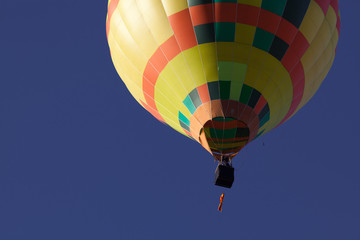 hot air balloons - freedom and adventure concept