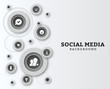Social network vector background with icons.