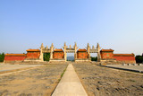 Dragon and Phoenix Gate landscape architecture in the Eastern Tombs of the Qing Dynasty, China... - 232587577