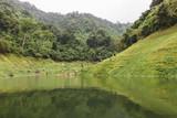 Beautiful scenic view of mountain and lake in Khun Dan Prakan Chon Dam - 232590981