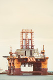 Oil and gas drilling platform.