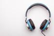 blue headphone on white, isolated