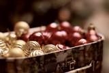 toned christmas decor object ball - 232622573