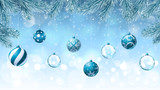 Christmas background with fir branches an decorations - 232632563