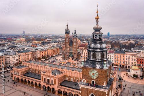 obraz PCV Kraków z lotu ptaka