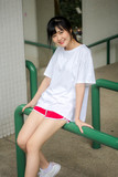 asia thai japanese teen teen White t-shirt beautiful girl happy and relax - 232659544
