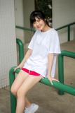 asia thai japanese teen teen White t-shirt beautiful girl happy and relax