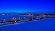 Leinwandbild Motiv Saint Petersburg. Neva River. View of the city of Petersburg. Center of Petersburg. Russia. Architecture of Petersburg. Bridges of St. Petersburg. Channels of St. Petersburg. Trinity Bridge.