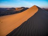Desert sand dunes in Northern China - 232676549