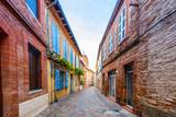 Rue typique à Toulouse en Occitanie, France