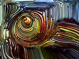 Layers of Iridescent Glass - 232690136