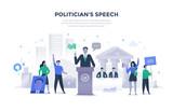 Politician Giving Speech Concept - 232691566