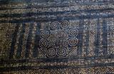 Traditional Hill Tribe indigo batik weaving example (old piece) - Laos - 232702555