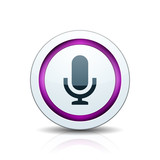 Microphone Podcast button illustration - 232715729