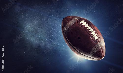 Leinwanddruck Bild Rugby game concept