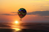 Air balloon over water. Mixed media - 232727328